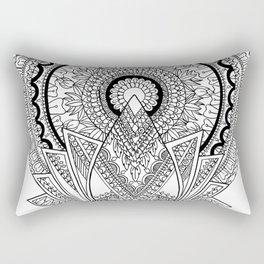'Reborn' Lotus Mandala Rectangular Pillow