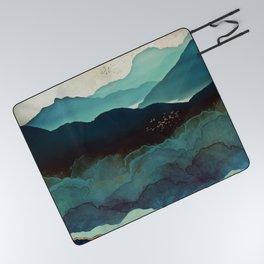 Indigo Mountains Picnic Blanket