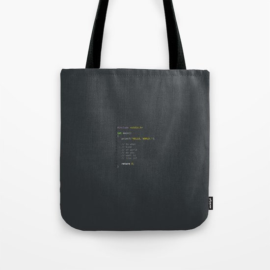 programmer's choice, C nerd. Tote Bag