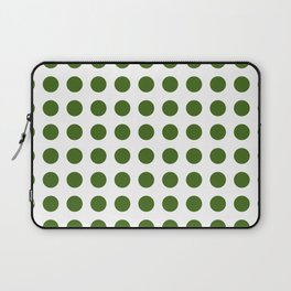 Simply Polka Dots in Jungle Green Laptop Sleeve