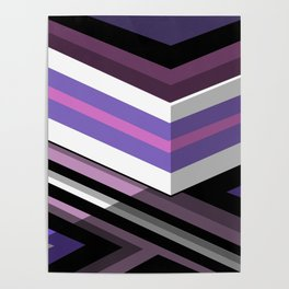 Abstract Lined Purple Poster
