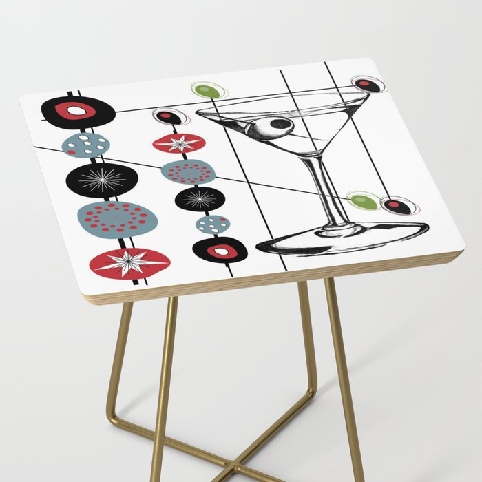 Mid-Century Modern Art Atomic Cocktail 3.0 Side Table