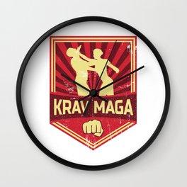 Krav Maga Propaganda | Martial Arts Self Defense Wall Clock