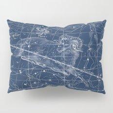 Aries sky star map Pillow Sham