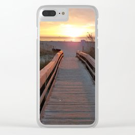 Good Morning Tybee Island Clear iPhone Case