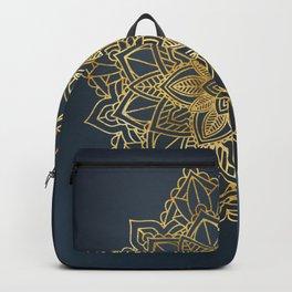 Golden Mandala Art Backpack