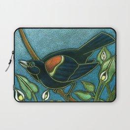 Redwing Blackbird with Water Arum Laptop Sleeve