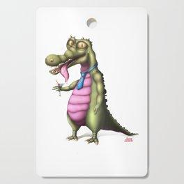 Reptile enjoying Martini Cutting Board