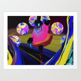 Electric Witch Art Print