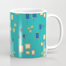 Square and rectangle flowers in a field Coffee Mug