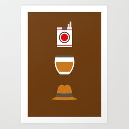 Iconic TV Shows: Mad Men Art Print