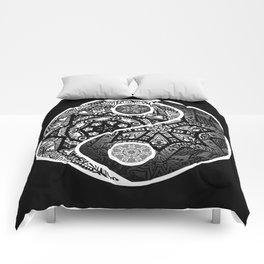 Yin Yang Zentangle Comforters