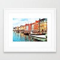 denmark Framed Art Prints featuring Copenhagen, Denmark by Philippe Gerber