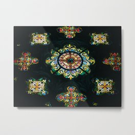 Stained Metal Print