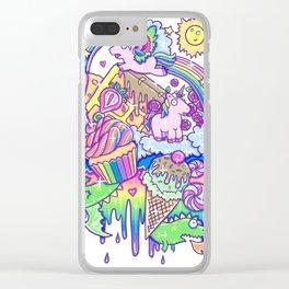 Kawaii Drip Clear iPhone Case