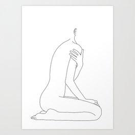 Nude life drawing figure - Cherie Art Print