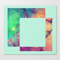 decal Canvas Prints featuring Space Decal by artii