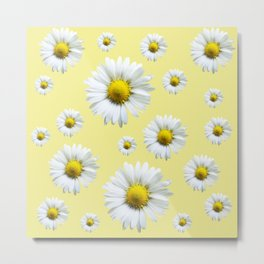 Yellow Daisy Chains Metal Print