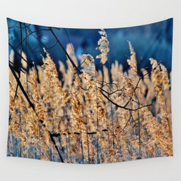 My blue reed dream - photography Wall Tapestry