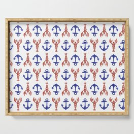 Lobsters & Anchors Serving Tray