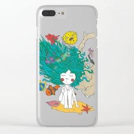 Sea Girl Clear iPhone Case