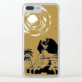 Sunshine Sentinel (Gold) Clear iPhone Case