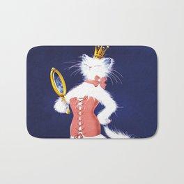 Cat Wearing Pink Corset Bath Mat
