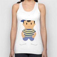 earthbound Tank Tops featuring Ness - Earthbound - Super Smash Brothers - Minimalist by Adrian Mentus