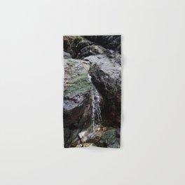 Cornish Waterfall Over Mossy Cliff Hand & Bath Towel