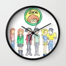 Daria and Friends Wall Clock