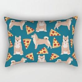 shiba inu pizza dog breed pet pattern dog mom Rectangular Pillow