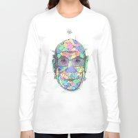 lama Long Sleeve T-shirts featuring Dalai Lama by Melting Sky