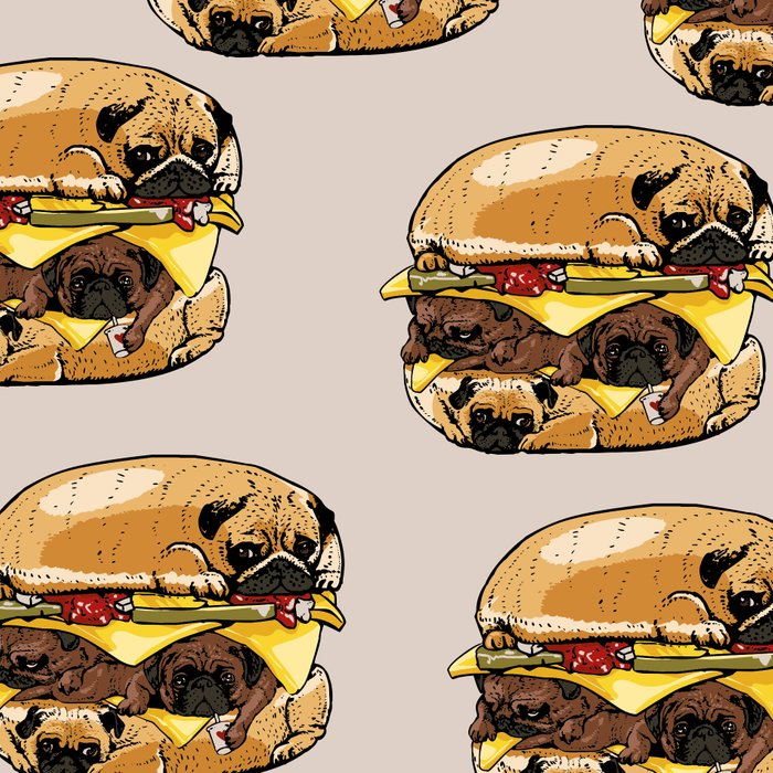 Pugs Burger Leggings
