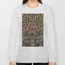 Tiger and flowers Long Sleeve T-shirt