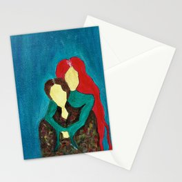 Two Faceless Women Stationery Cards