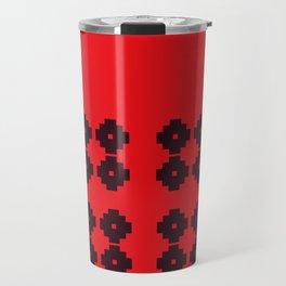 Folk Ethno MOROCCO Red Black Travel Mug