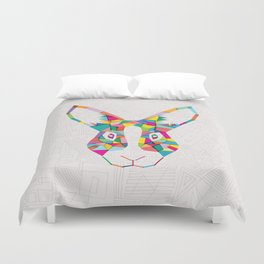 Rainbow Rabbit Duvet Cover