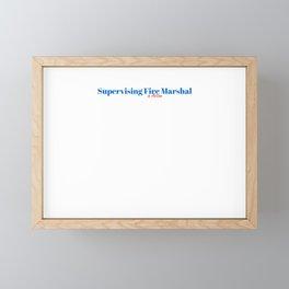Happy Supervising Fire Marshal Framed Mini Art Print