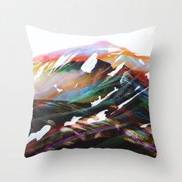 Abstract Mountains II Throw Pillow