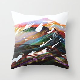Abstract Mountains II Throw Pillow