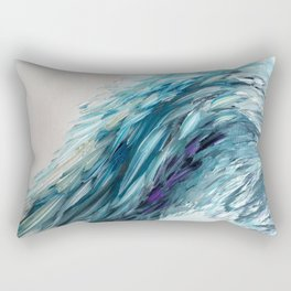 Once Upon An Angel Wing-blue Rectangular Pillow