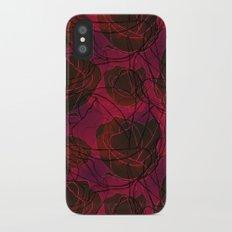 Red Roses iPhone X Slim Case