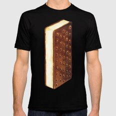 Ice Cream Sandwich Black Mens Fitted Tee LARGE