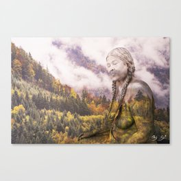 Pine Eagle Mama Canvas Print