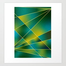 GREEN TO BLUE Art Print