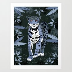 Midnight Jaguar Art Print