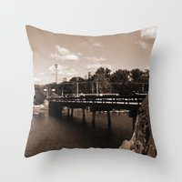 island Throw Pillows featuring island by Christophe Chiozzi