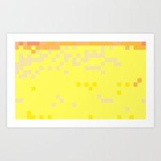 ABSTRACT PIXELS #0014 Art Print