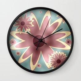 Rose blush flowers Wall Clock