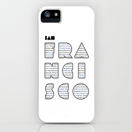 San Francisco in writing iPhone Case